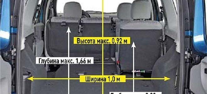 Габариты и размер в литрах багажника Лада Ларгус