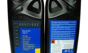 Охлаждающая жидкость для Рено Сандеро 1.6 и 1.4