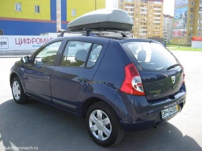 багажник на крышу рено сандеро