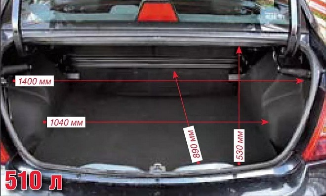 рено логан объем багажника